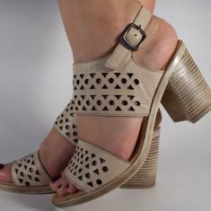 Sandale nude piele naturala (cod 196037)