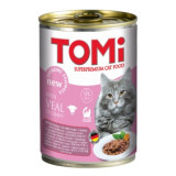 Cumpara ieftin Conserva pentru pisici, Tomi cu Vitel, 400 g