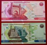 Uzbekistan set 2000 2.000 + 5000 5.000 sum som 2021 UNC **