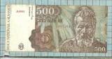 Bancnota 500 lei 1991 ianuarir seria A0004..261