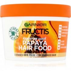 Garnier Fructis Papaya Hair Food mască regeneratoare pentru părul deteriorat