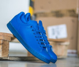 Adidasi Barbat Adidas Originals Stan Smith Adicolor - Adidasi Originali - Piele, 44, Albastru, Piele naturala