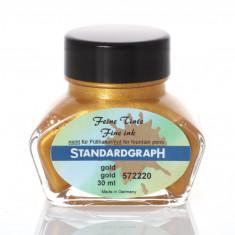 Cerneala Standardgraph aurie 30 ml pentru caligrafie
