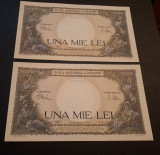 Romania - 1000 Lei 1941 - Consecutive aunc