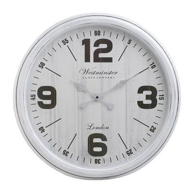 Ceas de perete Westminster, rotund, melamina, alb, diametru 51 cm foto