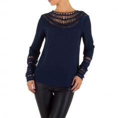 Bluza trendy, de culoare bleumarin, cu decupaje - Emmash, S