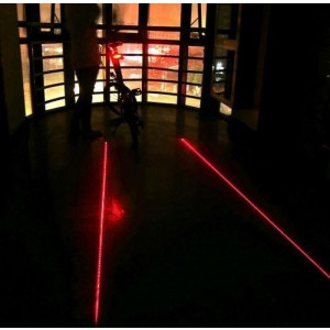 Lumina de semnalizare pentru bicicleta - 5 leduri rosii cu lasere