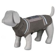 Pulover pentru câini, cu guler polo și aplicație - S / 48 cm