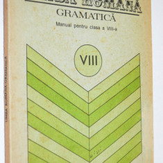 Manual clasa a VIII-a Gramatica Limba Romana 1988