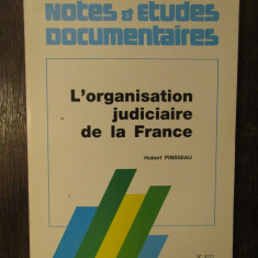 L'organisation Judiciaire De La France- PINSSEAU HUBERT
