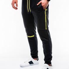 Pantaloni barbati, de trening, negru, slim fit, sport, street, model nou - P743