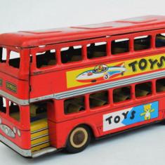 Jucarie veche din tabla masinuta autobuz LONDON BUS MF 844 Made in China