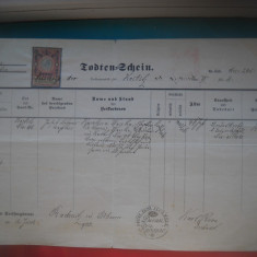 HOPCT DOCUMENT VECHI NR 296 CEHIA BOEMIA 1903 ECLEZIASTIC - LIMBA  GERMANA