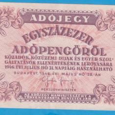 (4) BANCNOTA UNGARIA - 100.000 ADOPENGO 1946 (28 MAI 1946)