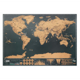 Harta Lumii razuibila, Everestus, 9IA19169, Hartie, Bej, lupa de citit inclusa