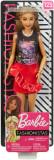 Papusa Barbie - Fashionista cu fustita rosie cu volane