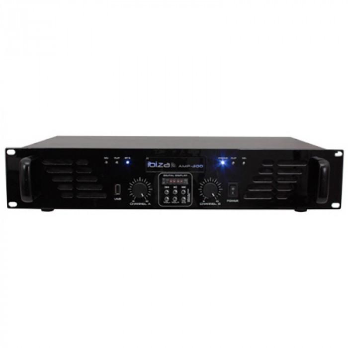 Amplificator 2 x 240 W, player usb, bluetooth, RCA, jack 6.35 mm