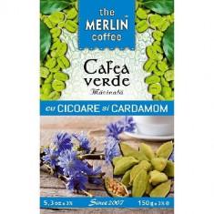 Cafea Verde cu Cicoare si Cardamon 150gr Merlin