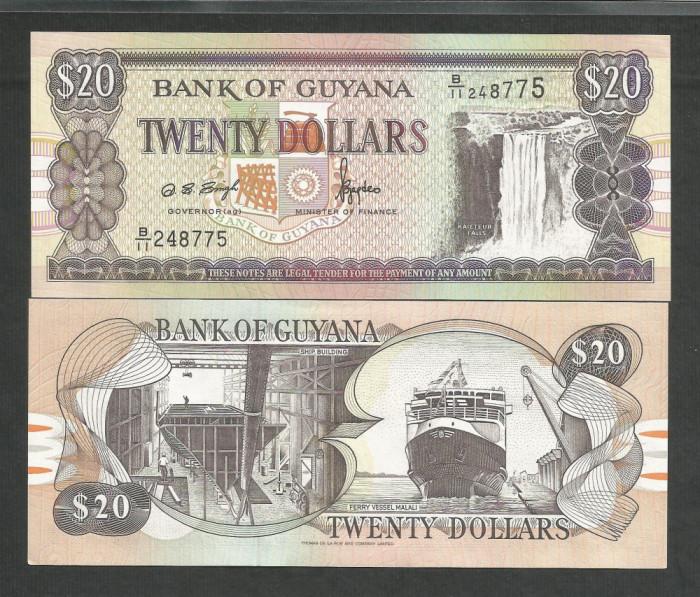 GUYANA  20  DOLLARS  1996  UNC   [1]   P- 30b.1  ,  necirculata