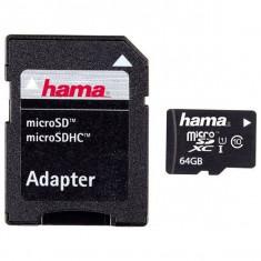 Card Hama Micro SDXC 64G clasa 10 cu adaptor foto