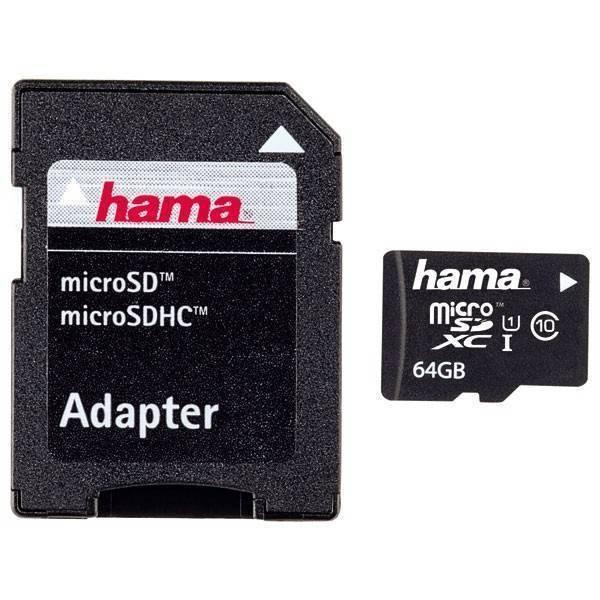 Card Hama Micro SDXC 64G clasa 10 cu adaptor