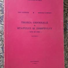 Teoria generala a statului si dreptului - Ioan Ceterchi M. Luburici vol 1 / 1975