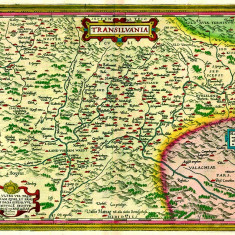 Harta Transilvania 1566 |
