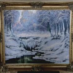 Tablou Peisaj de Iarna Neogrady Laszlo (1896-1962), Peisaje, Ulei, Altul