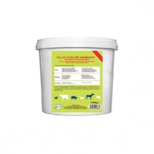 Calciu furajer vitaminizat pentru bovine, cabaline, ovine, pasari de curte, porcine, Pasteur, 1kg, set de 10