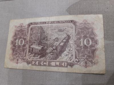 ROMANIA 10 LEI 1952, SERIE 1 CIFRA LITERA A foto