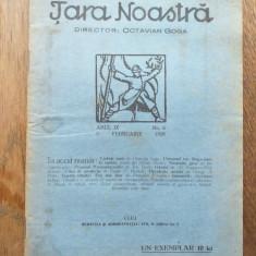 TARA NOASTRA, OCTAVIAN GOGA- NR 6, 1928
