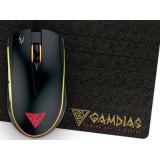 Mouse gaming Gamdias Zeus E2 Black cu mousepad Nyx E1