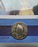 Marea Britanie 5 Lire Pounds 2000 Queen Mother UNC plus timbre, Europa