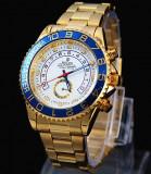 Ceas ROLEX YACHT-MASTER2 Gold 110grame CALITATE 1 REDUS SUPERB POZE REALE, Lux - elegant, Quartz, Placat cu aur