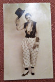 Tanara in costumatie haioasa - Fotografie tip carte postala datata 1929
