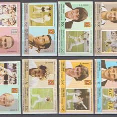 Union Island 1984 - cricket players, serie ndt neuzata