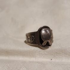 INEL argint TUTANKHAMON rar EGIPT de efect REGLABIL foarte VECHI de colectie