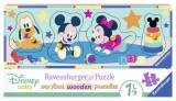 Puzzle Lemn Personaje Disney, 4 Piese