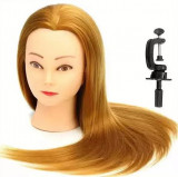 Cap practica Coafor Manechin Frizerie Blond+Suport cap practica