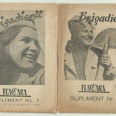BRIGADIERII - propaganda comunista (2 brosuri din 1948)
