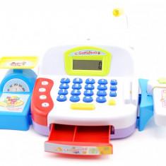 Casa de marcat de jucarie pentru baieti, cu microfon, scanner functional si accesorii