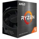"""CPU AMD skt. AM4 AMD Ryzen 5 5600X frecventa 3.7 GHz turbo 4.6 GHz 6 nuclee putere 65 W cooler """"100-100000065BOX"""""""