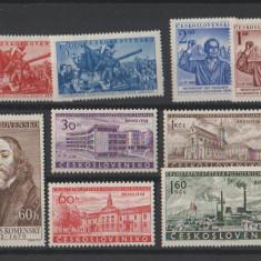 Cehoslovacia - Lot timbre neuzate, anii 1950
