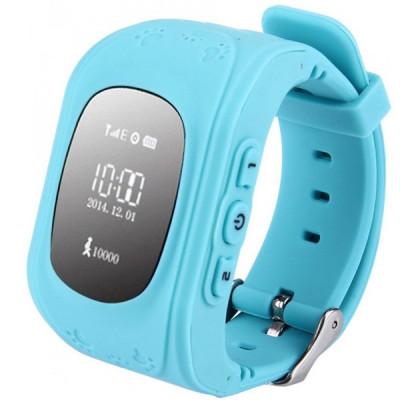 Ceas Smartwatch copii GPS Tracker iUni Q50, Telefon incorporat, Apel SOS, Albastru foto