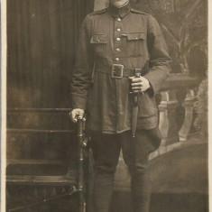 Fotografie subofiter roman cu baioneta anii 1920