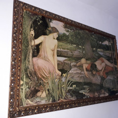 Tablou Litografie Originala Veche  Echo and Narcissus