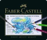 Creioane Colorate Acuarela A.Durer 24 culori, cutie metal Faber-Castell