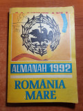 almanah romania mare 1992- autograf corneliu vadim tudor