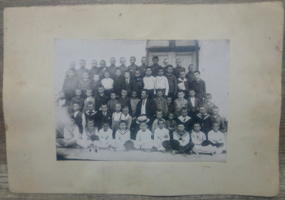 Clasa de elevi din ciclul primar// fotografie Romania perioada interbelica foto