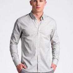 Camasa premium, casual, barbati - K495-alb-galben